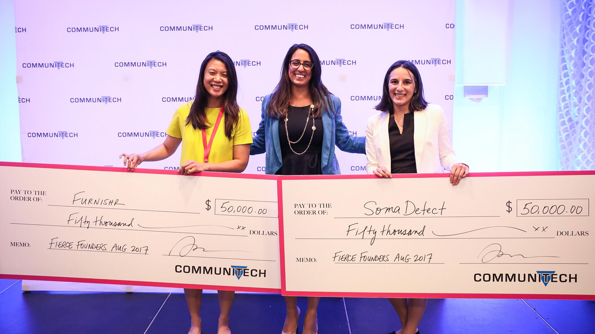 Furnishr and SomaDetect beat out 18 startups with their pitches on Thursday.